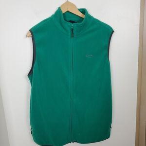 Men's medium Oakley green full zip fleece vest